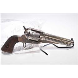 "Antique - Remington Model 1875 .44 Rem Cal 6 Shot Revolver w/ 5 3/4"" bbl [ fading and flaking nickel"
