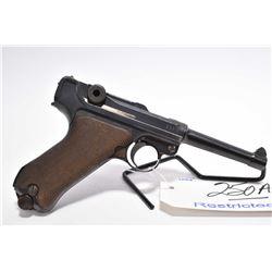 Restricted Handgun - Luger ( DWM ) Model P08 .9 MM Luger Cal 8 Shot Semi Auto Pistol w/ 106 mm bbl [