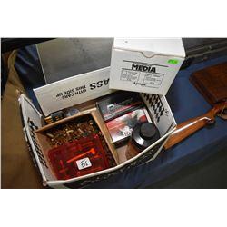 Box Lot : One Box .45 Cal 200 Grain Bullets - Part Bottle of Powder - Few .9 MM Bullets - Asstd .32