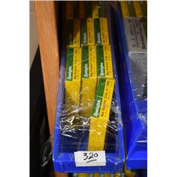 "Small Blue Plastic Tray : Thirteen Boxes Remington .12 Ga 3 1/2"" Mag Buckshot"
