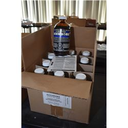 "Case Lot : Twelve Bottles of Cleaning Compound ""The Professional's Choice The Accubore Solution [ re"