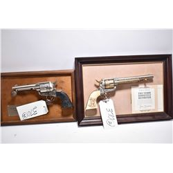 Lot of Two Replica Firearms ( Non Guns ) By Franklin Mint - Colt 1873 Theodore Roosevelt Revolver w/
