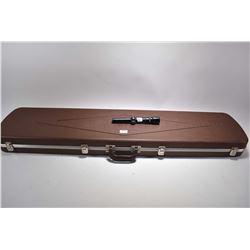 Lot of Two Items : Tan Gunguard Plastic Foam Lined Double Luggage Style Gun Case - Weaver V 4.5 Vari