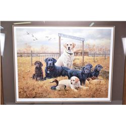 """Lot of Two Items - Framed Limited Edition Ducks Unlimited Print """"Great Beginnings"""" by James H Killen"""