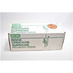RCBS Rock Chucker Supreme Reloading Press [ appears excellent in orig box ]