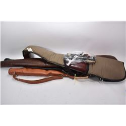 Lot of Two Items : Bundle Lot : Four Used Gun Cases - Bag Lot : Weaver Scope w/ rings, set of Parker