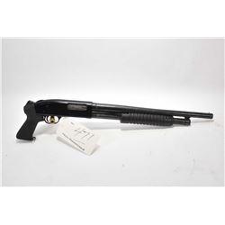 "Lakefield Mossberg Model 400 G .12 Ga 3"" Pump Action Shotgun w/ 19"" bbl [ blued finish, starting to"