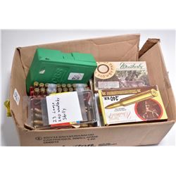 Box Lot : Seven Boxes ( 20 rnds per ) .240 Wthby Mag Cal Ammo - Plus 43 Rnds Loose .240 Wthby Mag Am