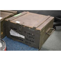 Wooden Crate : Full Case of .62 - 43 Cal Ammo