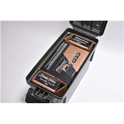 Plastic Ammo Box : 350 Rnds Blazer Brass .9 MM FMJ 115 Grain Ammo