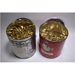 Lot of Two Items - Lg Metal Container : Approx. 825 Rnds .45 Auto Cal 200 Grain Ammo - Lg Red Metal