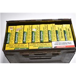 Small Green Metal Military Ammo Box : Ten Boxes Rem One Box Winchester .7 MM Rem Mag Cal 175 Grain A