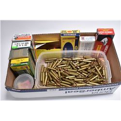 Box Lot : Plastic Container w/ approx. 177 Rnds .223 Cal Ammo - One Box American Eagle .223 CAl Ammo