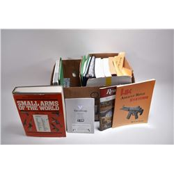 Large Box : Asstd Hard & Soft Cover Books : Small Arms of the World - Rem 870 - The Custom Govt Pist