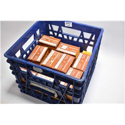 "Blue Plastic Crate : Twelve Boxes ( 20 rnds per ) .12 Ga 2 3/4"" # 8 Shot Shells - Eight Boxes .12 Ga"