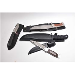 Bag Lot : Four Knives w/ sheaths Includ : Browning Mod 614 - Buck 2008 Design - Canada Ammo. Com - S