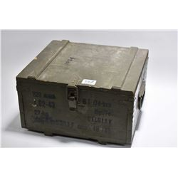 Green Wooden Military Ammo Box : 7.62 x 43 Cal Ammo [ missing two boxes ]