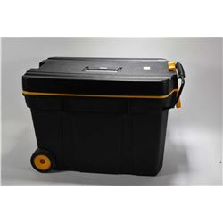 "Lg Black Plastic Rolling Tool Box ""ZAG"" : with holster includ : Smith & Wesson Leather Shoulder - Bi"