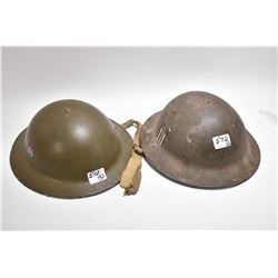 Lot of Two Can / British Military Helmets [ one marked 46 , one is marked III ]