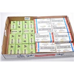 Tray Lot : 16 Boxes ( 20 rnds per ) Prvi Partizan .223 Rem SP Cal 55 Grain Ammo - 14 Boxes ( 50 rnds