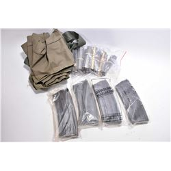 Box Lot : Three Cloth 5.56 MM Mag Carriers - 100 .223 Stripper Clips in bundles of ten - Four Ruger