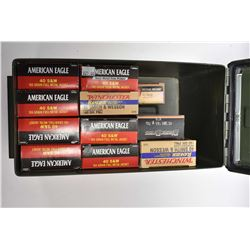 Green Metal Ammo Box : Approx. 440 Rnds .40 S & W Cal Ammo in boxes