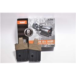 Bag Lot : Bushnell AR 2X MP Tactical Red Dot Sight w/ orig box Retail $ 215.00 - Plus Two XCR 7.62 x