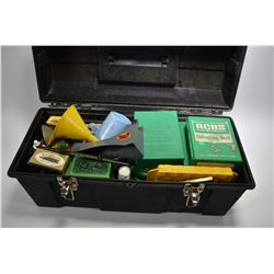 Large Black Plastic Tool Box : Reloading Supplies Includ : scale, Nine Sets of Dies [ .300 Win Mag -