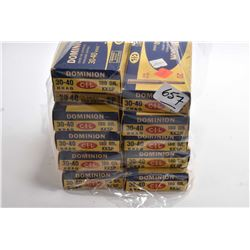 Bag Lot : Collector's Ammo : Eleven ( 20 rnds per ) CIL Dominion .30 - 40 Krag 180 Grain Ammo [ note