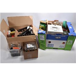 Lot of Two Boxes : Full of MIsc Ammo - Brass - Bullets - Shot Shells - Powder - Empty Powder Tins -