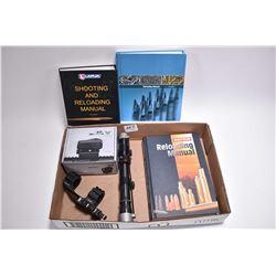 Tray Lot : Sparc AR Red Dot SIght in orig box [ appears as new ] - Burris P.E.P.R. Detachable Base w