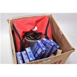 Box Lot : 6-boxes 20/per 8 x 56 RS Mannlicher ammo, 4-boxes 10/per 8mm in clips,plastic container wi