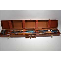 Fenwick Fishing Rod Case w/ Two Bamboo Fly Fishing Rods [ - Three Asstd Fishing Rods - One Fly Fishi