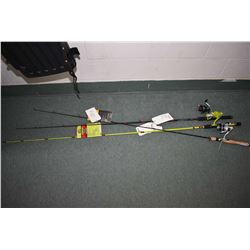Lot of Three Fishing Rods [ appear as new w/ reels ]