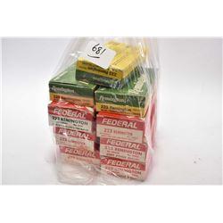Bag Lot : 9 Boxes ( 20 rnds per ) Federal & Remington .223 Rem Cal Ammo