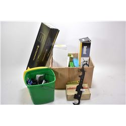 Box Lot : Nikon Scope Access w/ sunshade, knob, tool, etc. but No Scope - Bushnell Tripod in orig bo