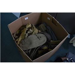 Large Box Lot of MIsc Military Web Gear - Pouches - Double Pouches - Canadian Marked Items - Canteen