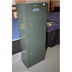 "Green Metal Gun Locker ""Homsafe "" w/ keys"