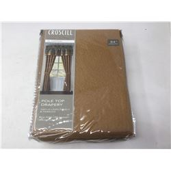 Croscill 84 inch- 2 Lined Panels with Tiebacks (Copper Color)