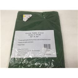 Green Table Cover 36 in x 36 in