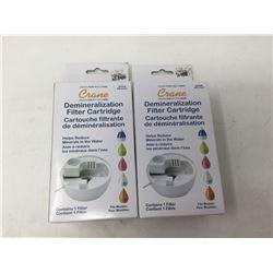 Crane Demineralization Filter Cartridge (lot of 2)