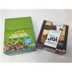 Lot of PowerBarAlmond, Sea Salt & Dark Chocolate & Kashi Joi Dark Chocolate Espresso Nut Bars