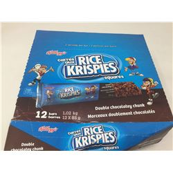 Lot of Kellogg's Rice Krispies Squares Double Chocolatey Chunk Bars