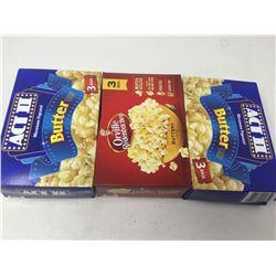Lot of Microwave Popcorn (3 x 3)