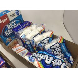 Lot of Rice Krispies, Marshmallows, Chocolate Bars and Graham Crackers