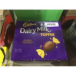 Dairy Milk Toffee Milk Chocolate Bars (24 x 100g)