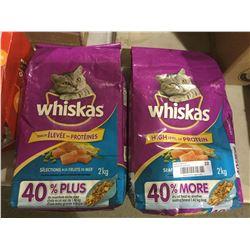 Whiskas Seafood Flavored Cat Food (2 x 2kg)