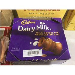 Cadbury Dairy Milk Chocolate Bars (24 x 100g)
