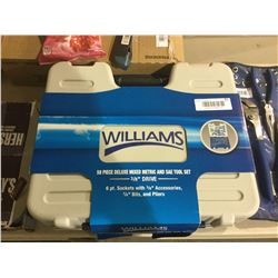 """Williams 58 Piece Deluxe Metric and SAE Tool Set 3/8"""" Drive"""