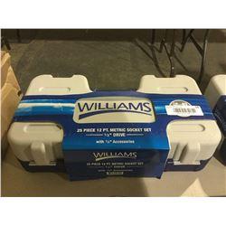 "Williams 25 Piece 12 pt. Socket Set 1/2"" Drive"